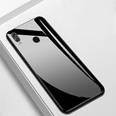 Coque Rebord Contour Silicone et Vitre Miroir Housse Etui M05 pour Huawei Y9 (2019) Noir