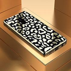 Coque Rebord Contour Silicone et Vitre Miroir Housse Etui M05 pour Samsung Galaxy S9 Noir