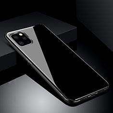 Coque Rebord Contour Silicone et Vitre Miroir Housse Etui pour Apple iPhone 11 Pro Noir