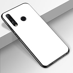 Coque Rebord Contour Silicone et Vitre Miroir Housse Etui pour Huawei Enjoy 9s Blanc