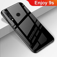 Coque Rebord Contour Silicone et Vitre Miroir Housse Etui pour Huawei Enjoy 9s Noir