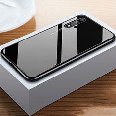 Coque Rebord Contour Silicone et Vitre Miroir Housse Etui pour Huawei Honor 20 Noir