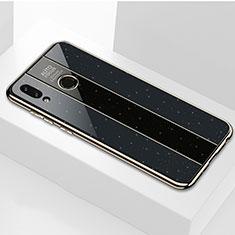 Coque Rebord Contour Silicone et Vitre Miroir Housse Etui pour Huawei Honor 8X Noir