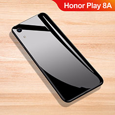 Coque Rebord Contour Silicone et Vitre Miroir Housse Etui pour Huawei Honor Play 8A Noir
