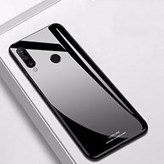 Coque Rebord Contour Silicone et Vitre Miroir Housse Etui pour Huawei Nova 4e Noir
