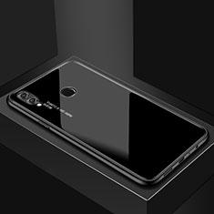 Coque Rebord Contour Silicone et Vitre Miroir Housse Etui pour Huawei P Smart (2019) Noir