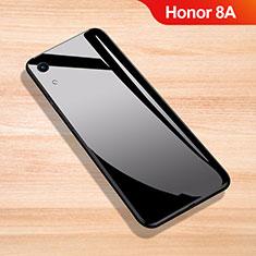 Coque Rebord Contour Silicone et Vitre Miroir Housse Etui pour Huawei Y6 Prime (2019) Noir