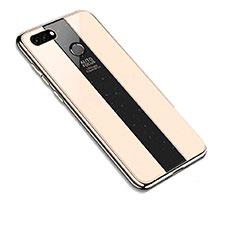 Coque Rebord Contour Silicone et Vitre Miroir Housse Etui pour Huawei Y9 (2018) Or