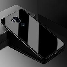 Coque Rebord Contour Silicone et Vitre Miroir Housse Etui pour LG G7 Noir