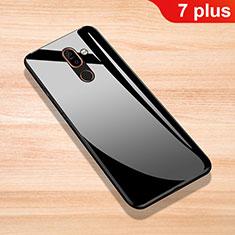 Coque Rebord Contour Silicone et Vitre Miroir Housse Etui pour Nokia 7 Plus Noir