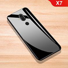 Coque Rebord Contour Silicone et Vitre Miroir Housse Etui pour Nokia X7 Noir