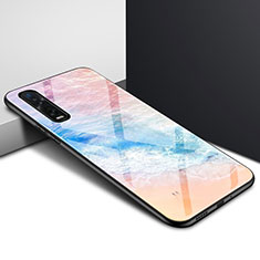 Coque Rebord Contour Silicone et Vitre Miroir Housse Etui pour Oppo Find X2 Pro Colorful