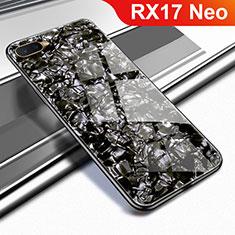 Coque Rebord Contour Silicone et Vitre Miroir Housse Etui pour Oppo RX17 Neo Noir