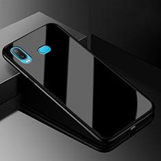 Coque Rebord Contour Silicone et Vitre Miroir Housse Etui pour Samsung Galaxy A6s Noir