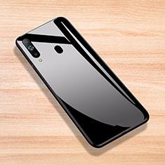 Coque Rebord Contour Silicone et Vitre Miroir Housse Etui pour Samsung Galaxy A8s SM-G8870 Noir