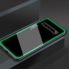 Coque Rebord Contour Silicone et Vitre Miroir Housse Etui pour Samsung Galaxy S10 5G SM-G977B Vert