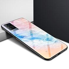 Coque Rebord Contour Silicone et Vitre Miroir Housse Etui pour Vivo X60 5G Colorful