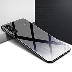 Coque Rebord Contour Silicone et Vitre Miroir Housse Etui pour Vivo Y12s Noir