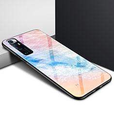 Coque Rebord Contour Silicone et Vitre Miroir Housse Etui pour Xiaomi Mi 10 Ultra Colorful