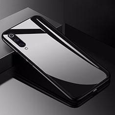 Coque Rebord Contour Silicone et Vitre Miroir Housse Etui pour Xiaomi Mi 9 Noir