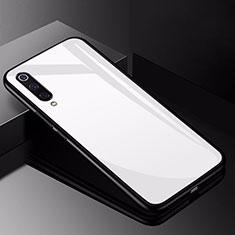 Coque Rebord Contour Silicone et Vitre Miroir Housse Etui pour Xiaomi Mi 9 Pro 5G Blanc