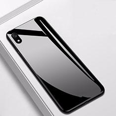 Coque Rebord Contour Silicone et Vitre Miroir Housse Etui pour Xiaomi Redmi 7A Noir