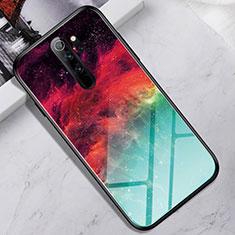 Coque Rebord Contour Silicone et Vitre Miroir Housse Etui pour Xiaomi Redmi Note 8 Pro Colorful