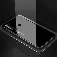 Coque Rebord Contour Silicone et Vitre Miroir Housse Etui pour Xiaomi Redmi Note 8T Noir