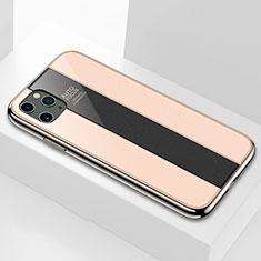 Coque Rebord Contour Silicone et Vitre Miroir Housse Etui T01 pour Apple iPhone 11 Pro Max Or
