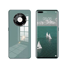 Coque Rebord Contour Silicone et Vitre Miroir Housse Etui T01 pour Huawei Mate 40 Pro Vert
