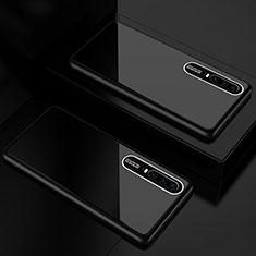 Coque Rebord Contour Silicone et Vitre Miroir Housse Etui T01 pour Huawei P30 Noir