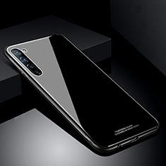 Coque Rebord Contour Silicone et Vitre Miroir Housse Etui T01 pour Oppo Find X2 Lite Noir