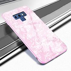 Coque Rebord Contour Silicone et Vitre Miroir Housse Etui T01 pour Samsung Galaxy Note 9 Rose