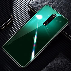Coque Rebord Contour Silicone et Vitre Miroir Housse Etui T01 pour Xiaomi Mi 9T Pro Vert