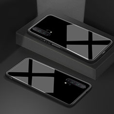 Coque Rebord Contour Silicone et Vitre Miroir Housse Etui T02 pour Huawei Honor 20 Pro Noir