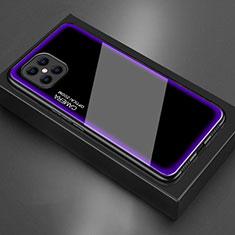 Coque Rebord Contour Silicone et Vitre Miroir Housse Etui T02 pour Huawei Nova 8 SE 5G Violet