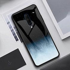 Coque Rebord Contour Silicone et Vitre Miroir Housse Etui T02 pour OnePlus 7T Pro Noir