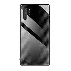 Coque Rebord Contour Silicone et Vitre Miroir Housse Etui T02 pour Samsung Galaxy Note 10 Plus 5G Noir