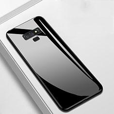 Coque Rebord Contour Silicone et Vitre Miroir Housse Etui T02 pour Samsung Galaxy Note 9 Noir