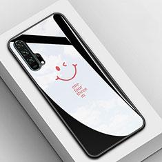 Coque Rebord Contour Silicone et Vitre Miroir Housse Etui T03 pour Huawei Honor 20 Pro Noir