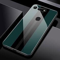 Coque Rebord Contour Silicone et Vitre Miroir Housse Etui T03 pour Huawei Honor View 20 Vert