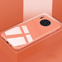 Coque Rebord Contour Silicone et Vitre Miroir Housse Etui T03 pour Huawei Mate 30 Pro Orange