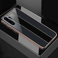 Coque Rebord Contour Silicone et Vitre Miroir Housse Etui T03 pour Huawei P30 Pro Noir