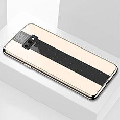Coque Rebord Contour Silicone et Vitre Miroir Housse Etui T03 pour Samsung Galaxy Note 9 Or