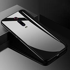 Coque Rebord Contour Silicone et Vitre Miroir Housse Etui T03 pour Xiaomi Mi 9T Pro Noir