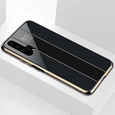 Coque Rebord Contour Silicone et Vitre Miroir Housse Etui T04 pour Huawei Honor 20 Pro Noir