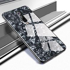 Coque Rebord Contour Silicone et Vitre Miroir Housse Etui T04 pour Xiaomi Mi 9T Pro Noir