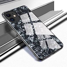 Coque Rebord Contour Silicone et Vitre Miroir Housse Etui T05 pour Apple iPhone 11 Noir