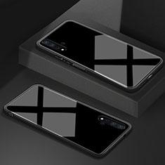 Coque Rebord Contour Silicone et Vitre Miroir Housse Etui T05 pour Huawei Honor 20 Noir