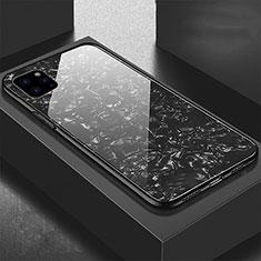 Coque Rebord Contour Silicone et Vitre Miroir Housse Etui T06 pour Apple iPhone 11 Pro Max Noir